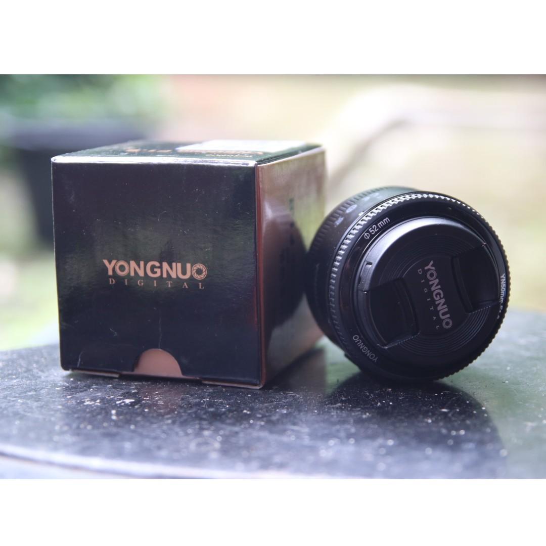 Lensa Prime Fix 50mm F18 Yongnuo Photography On Carousell Fujifilm Instax Mini 9 Shibuya Package Biru