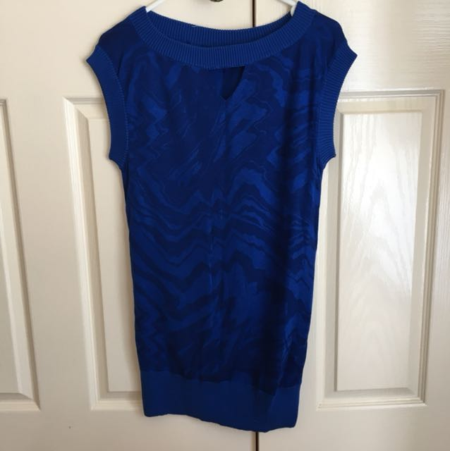 LIKE NEW Armani AX Sweater Dress Cobalt Blue - Size 8 or 6