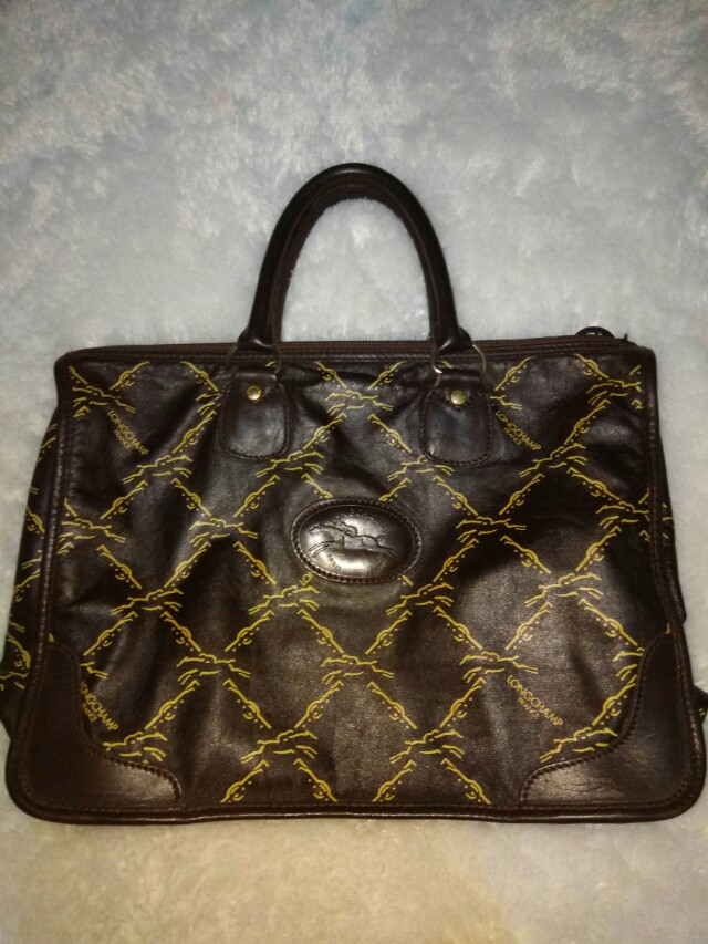 Longchamp genuine leather bag