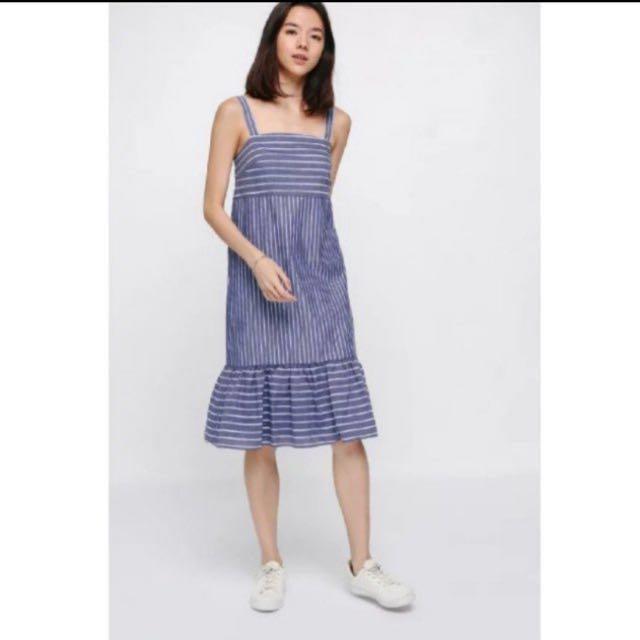 3e8a41a0744e3 Love Bonito uli striped ruffle hem midi dress