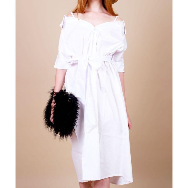 Malone dress white