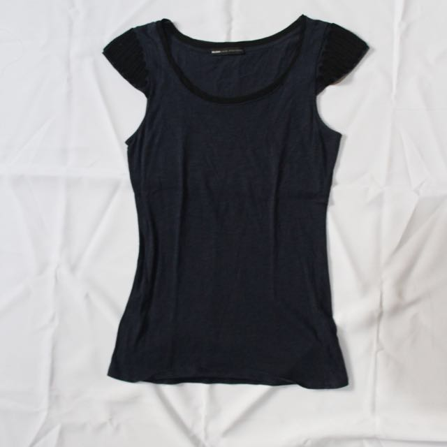 Mango Navy Blue Blouse