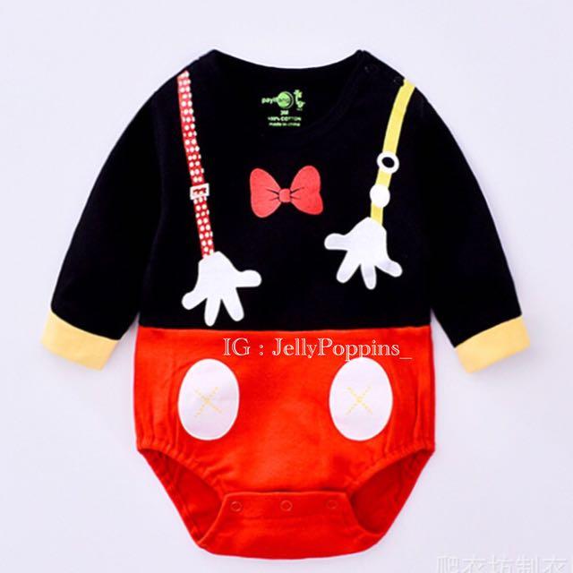Mickey romper baju bayi
