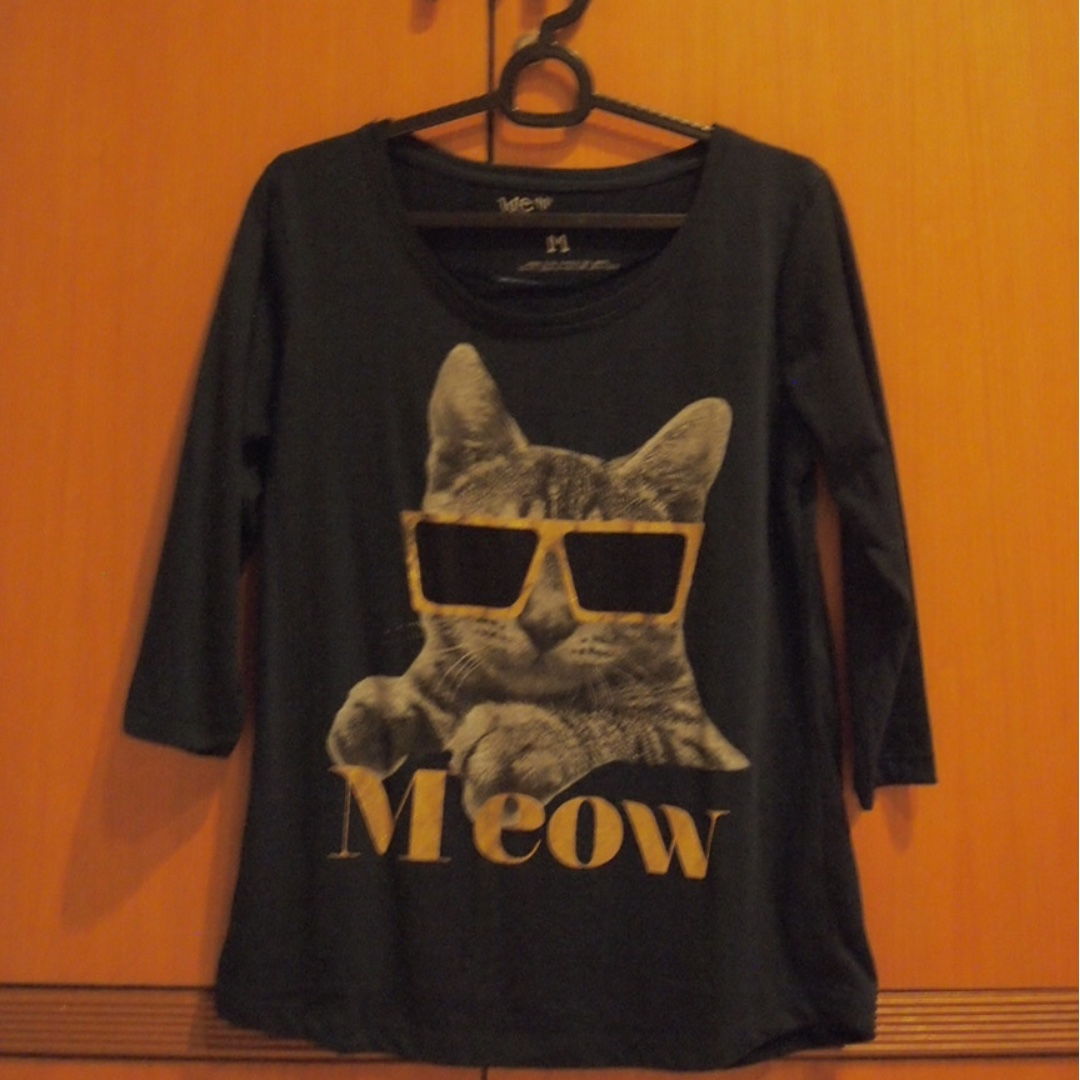 Navy Cat Top