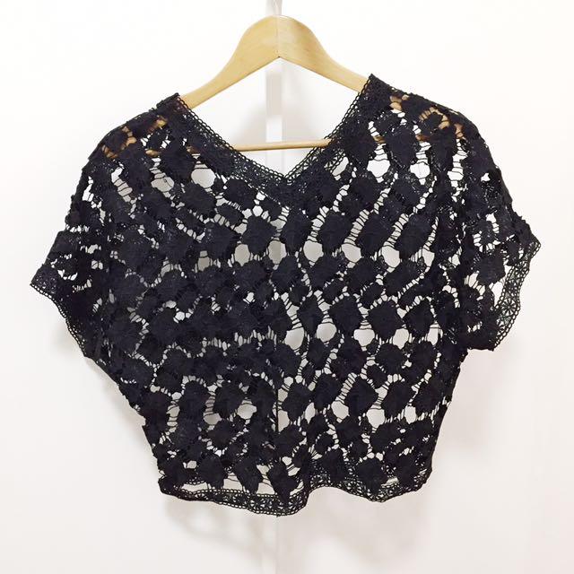 NEW! Black Crochet Top