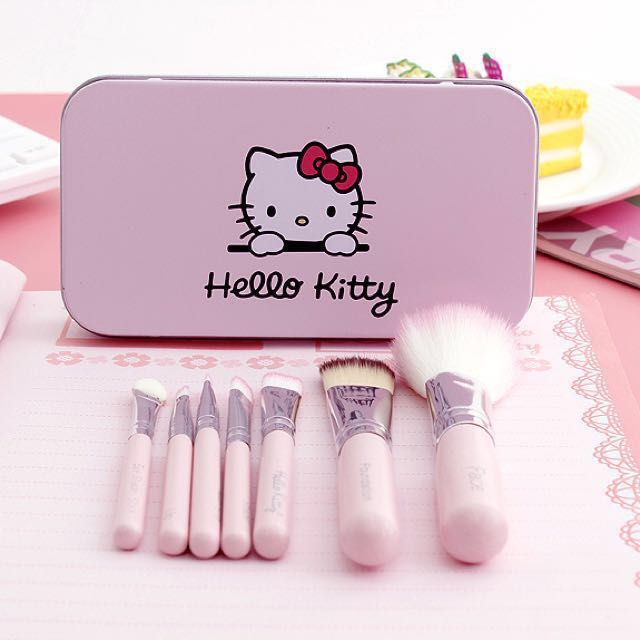 [NEW] Cute Hello Kitty Make Up Makeup Brush Set