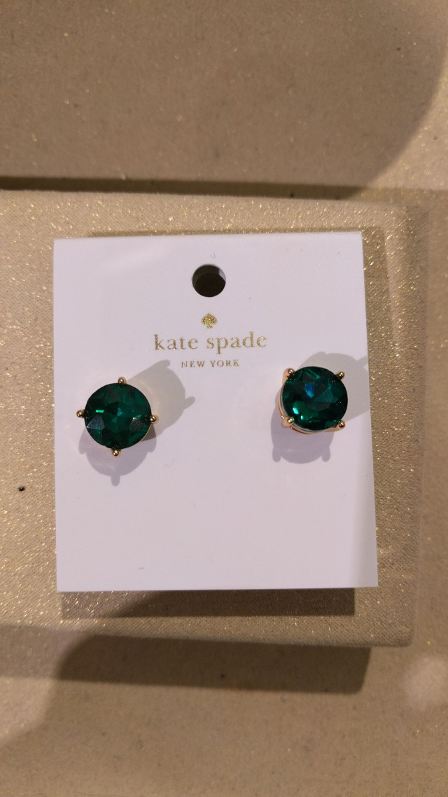 NEW KATE SPADE EMERALD EARRINGS