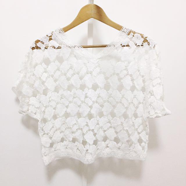 NEW! White Crochet Top