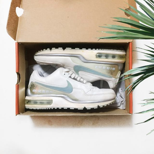 Nike Air Max White/Ice Blue-Silver Metallic
