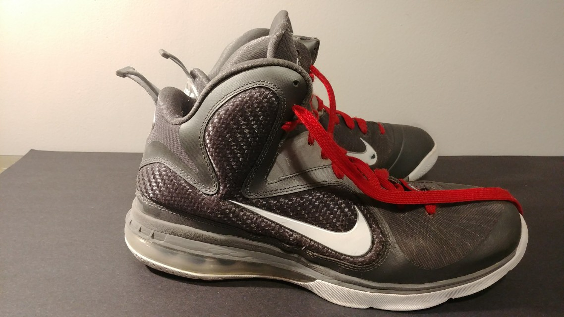 Nike Lebron 9's Grey Basketball shoes
