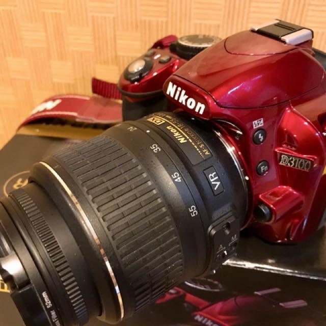 Nikon D3100 數位相機 紅色(附相機袋)
