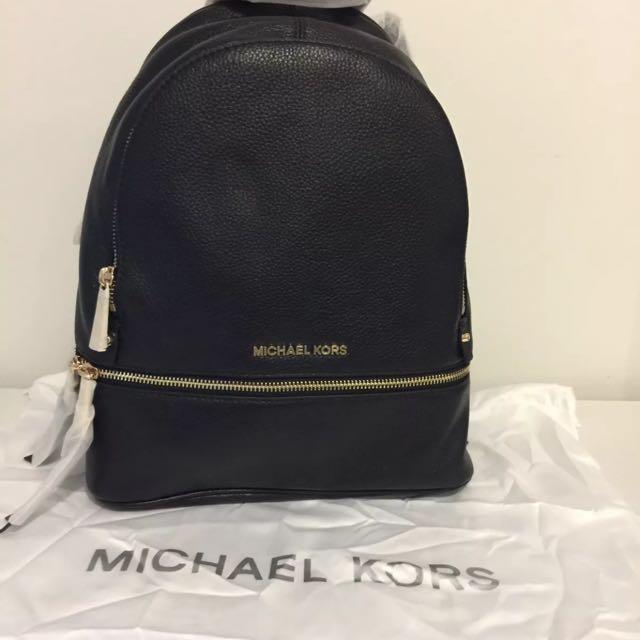 NWT Authentic Michael Kors Rhea Medium Leather Backpack