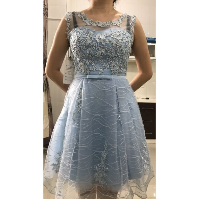 Party gown blue