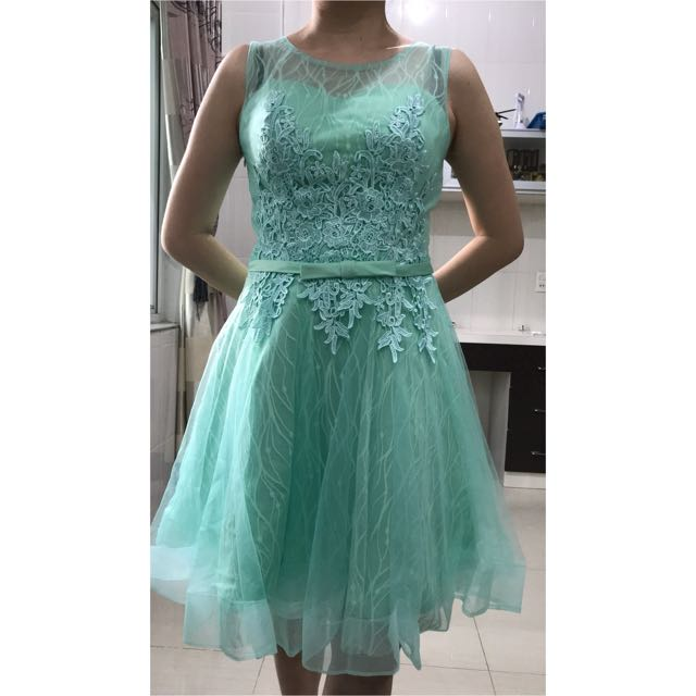 Party gown Green pastel