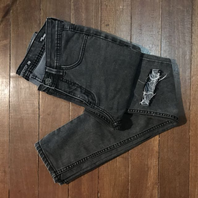 PENSHOPPE Black Knee-ripped Jeans
