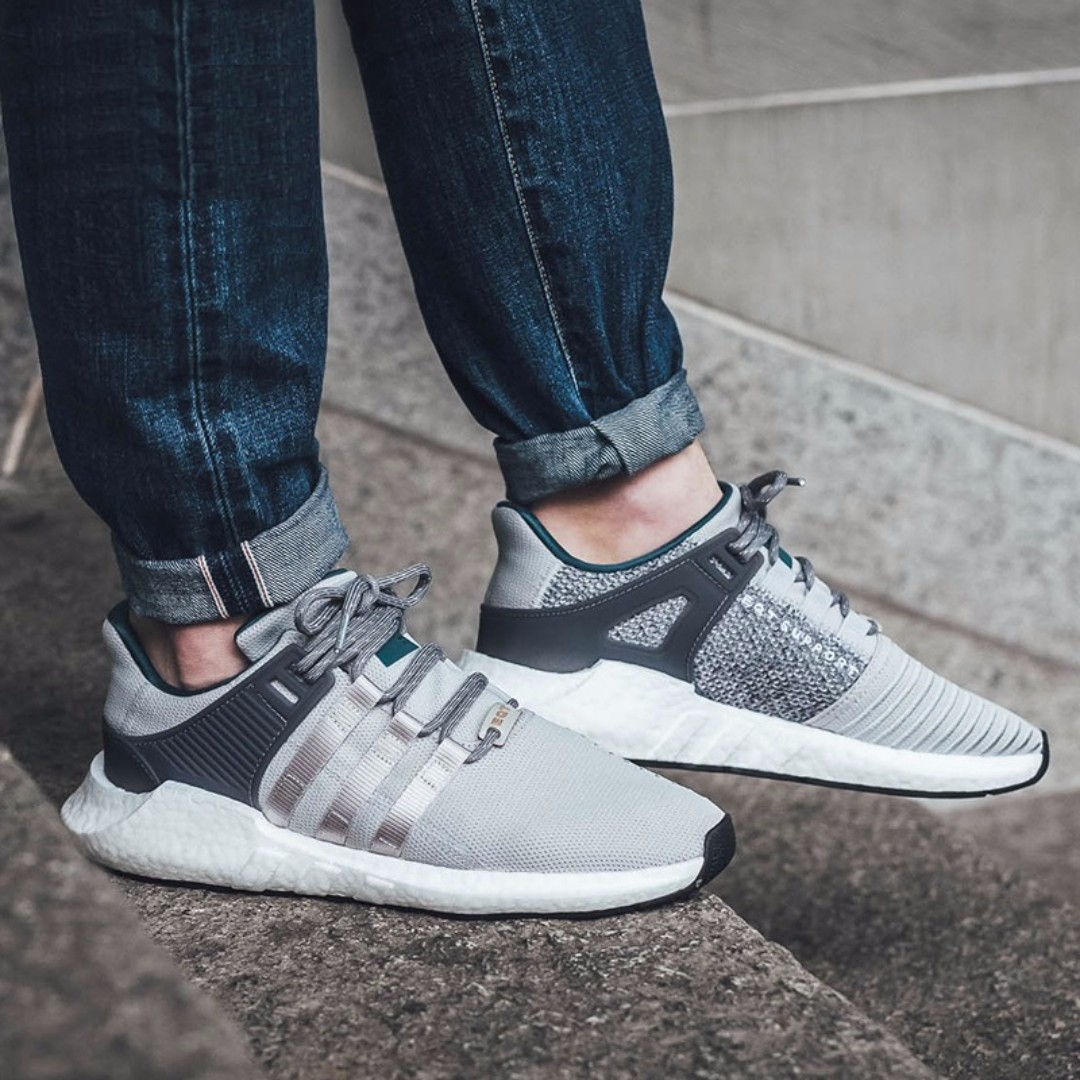 3eb707919ff9 PO) Adidas Mens EQT Support Boost 93 17 Grey Teal