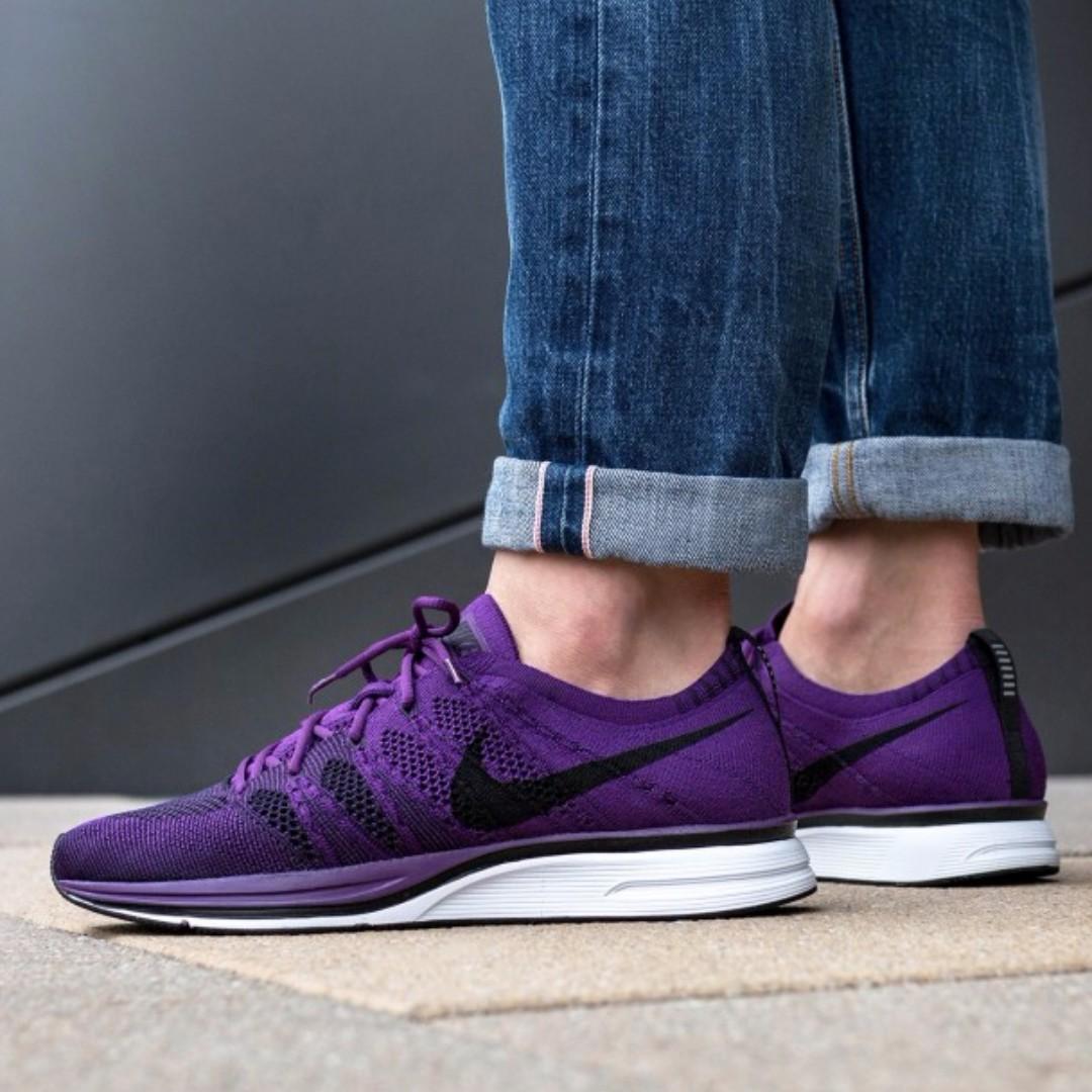 semilla Moral pistola  PO) Nike Flyknit Trainer Dark Purple, Men's Fashion, Footwear, Sneakers on  Carousell