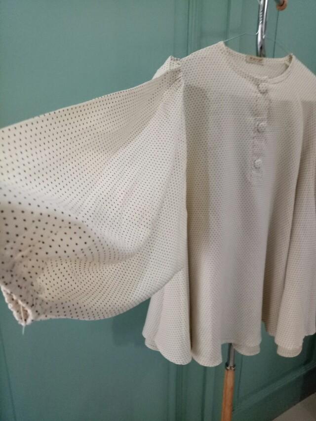 Polka blouse oversize