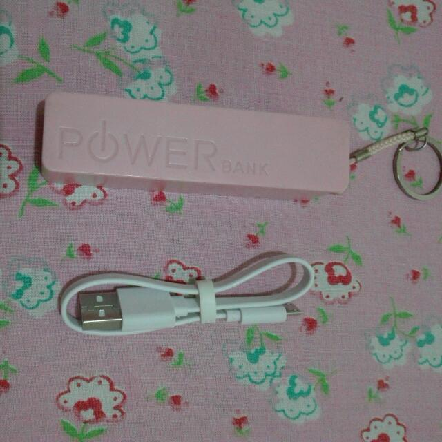 Powerbank Pink Light And Cute Pocket Size