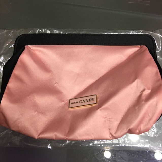 1feeb42b7bdb61 store prada parfums pink candy cosmetic bag 5c45e 75eb0; closeout prada  candy cosmetic bag everything else others on carousell 27de3 81181