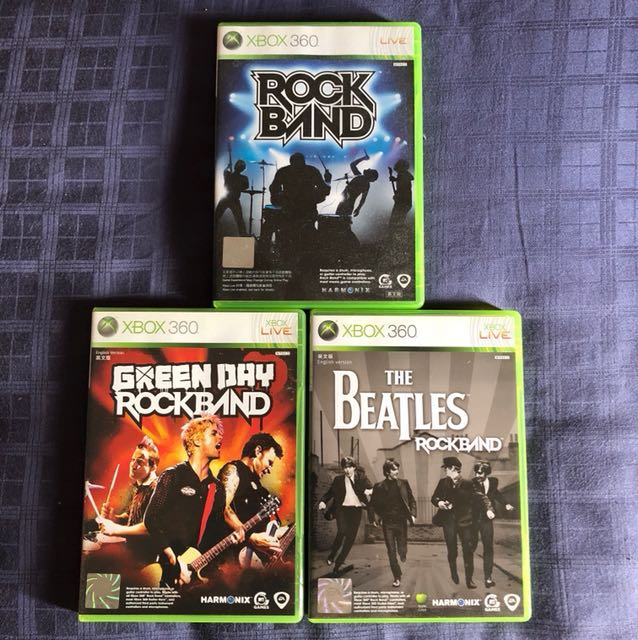 Rock band, green day and the Beatles rockband XBOX360 game