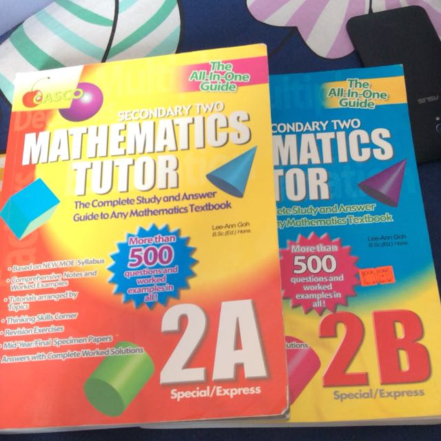 sec 2 maths 2a and 2b practice book casco books stationery rh sg carousell com Missile Guided Math The Outstanding Math Guide
