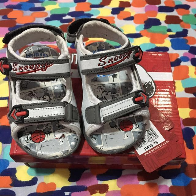 Snoopy baby sandals for boy