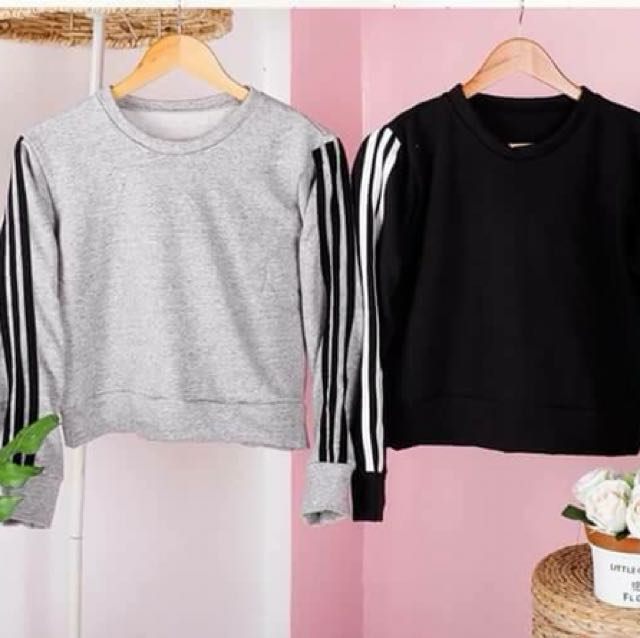 Striped Arms Pullover