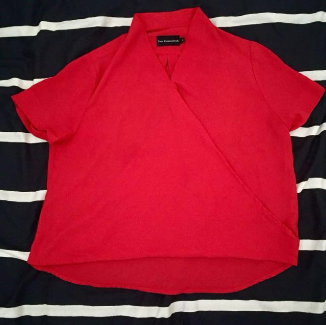 (The Executive) Red Blouse