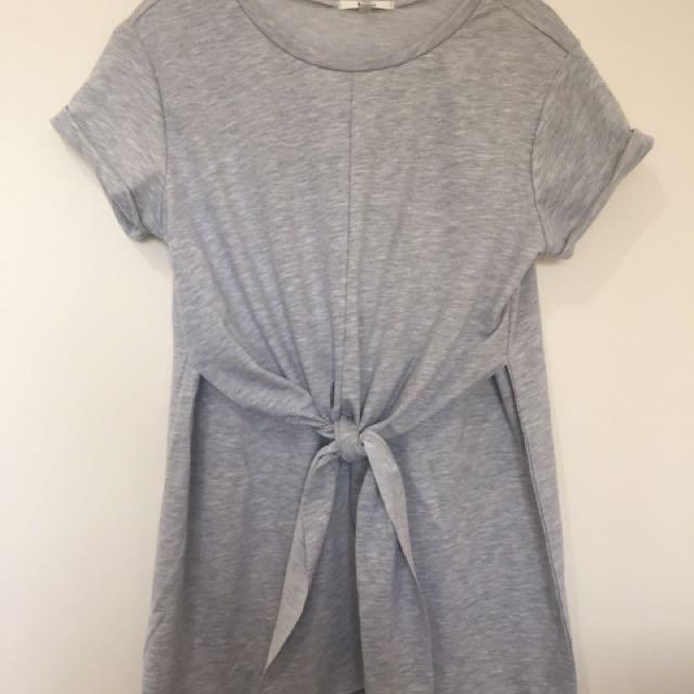 Tie front mini dress, L