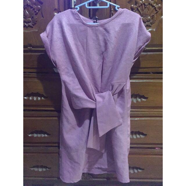Tied Pink Dress