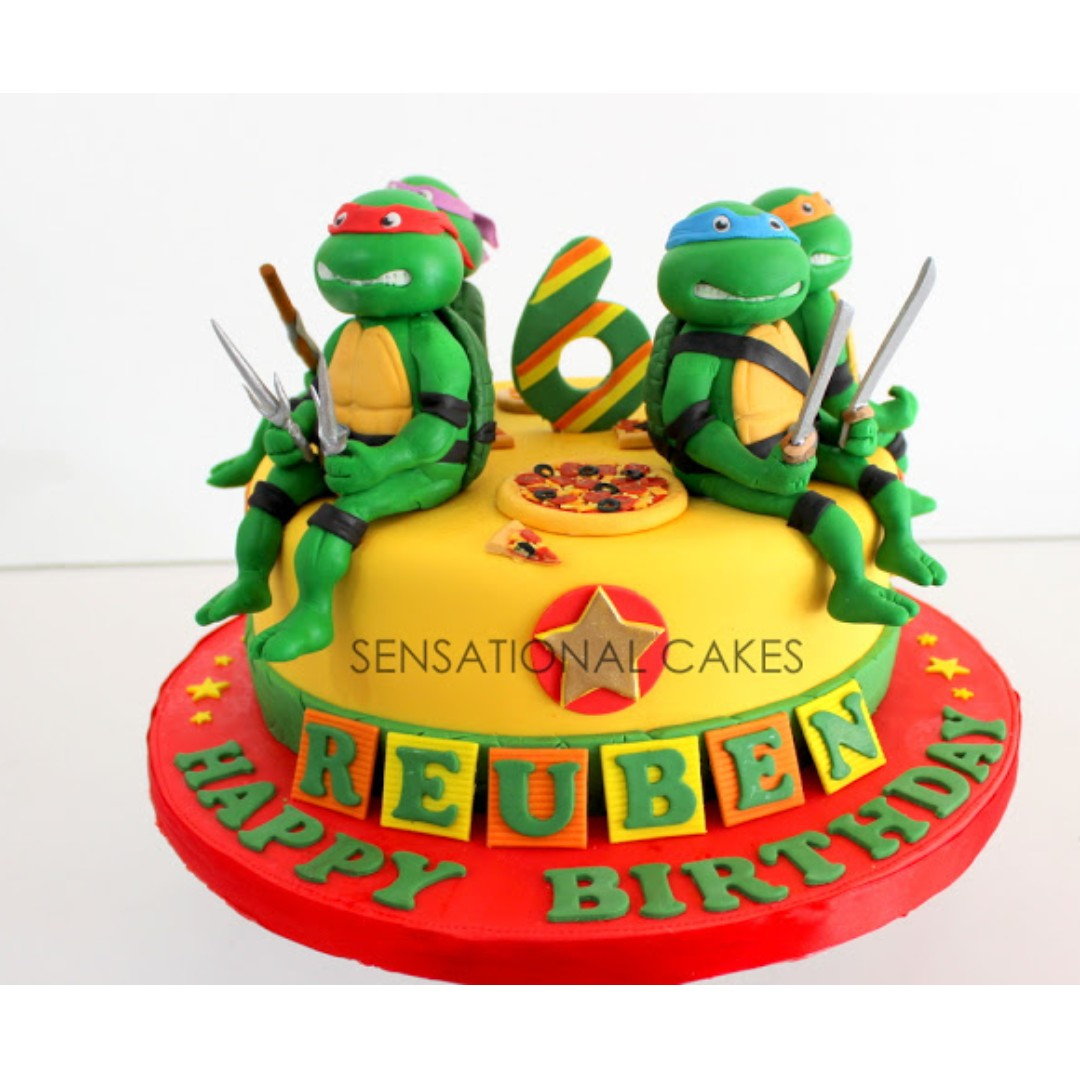 TMNT teenage ninja turtles 3D cake singapore , yes the