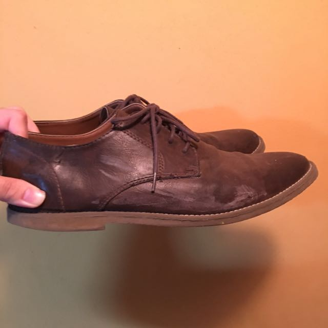 TOPMAN Brown Leather Shoes