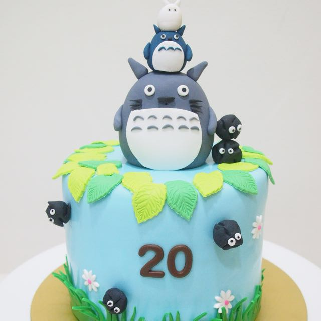 Super Totoro Cake Food Drinks Baked Goods On Carousell Funny Birthday Cards Online Aeocydamsfinfo
