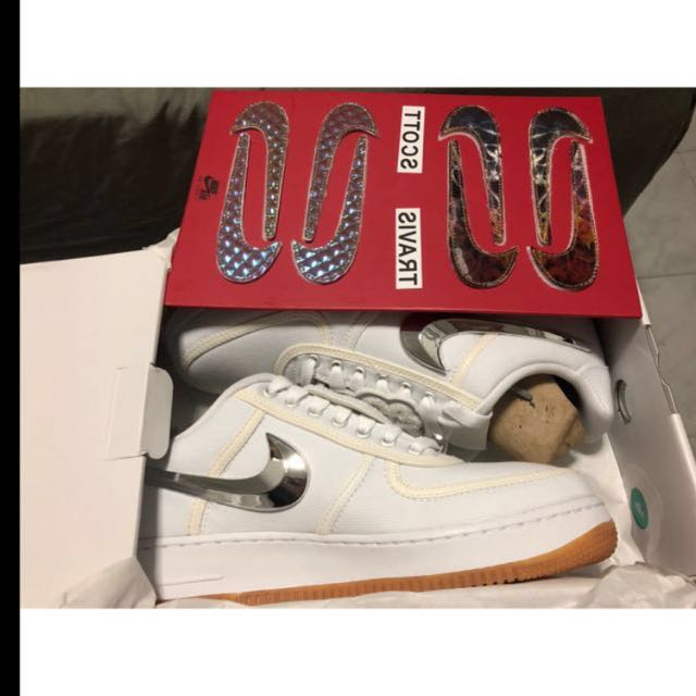 travis scott nike air force 1 basso, moda maschile, calzature in