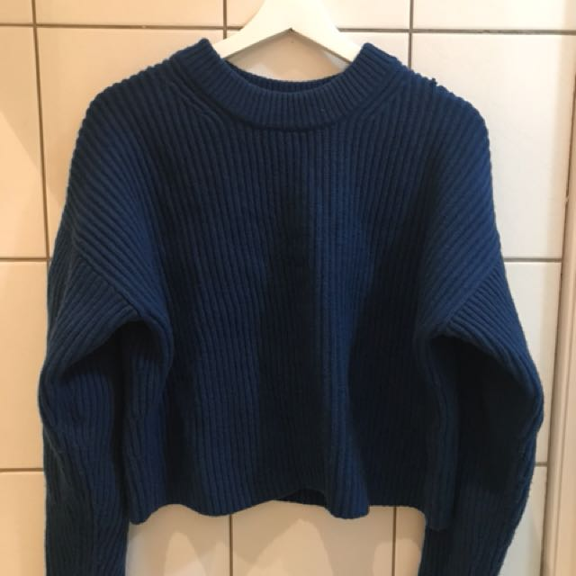 Uniqlo lemaire 藍色毛衣