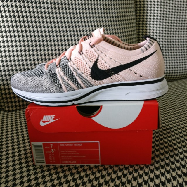 8d0769513408 US7 UK6 Nike Flyknit Trainer Sunset Tint - Pink