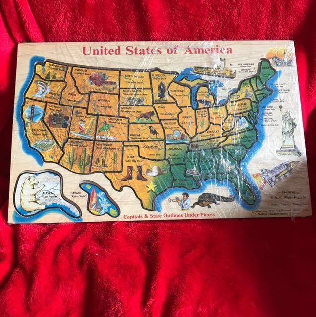 U.S.A Map Puzzle Deluxe (Melissa & Doug) Made in Taiwan