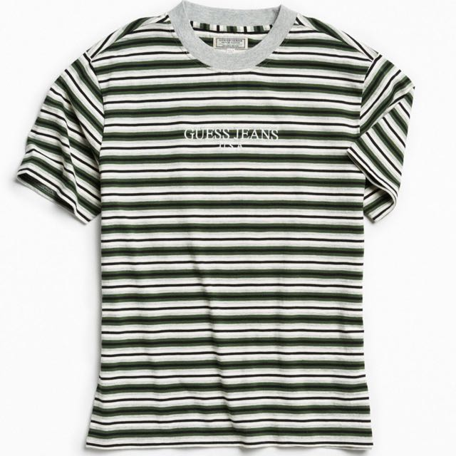 dabd0bb563 Vintage Guess Jeans Striped Tee, Men's Fashion, Clothes on Carousell