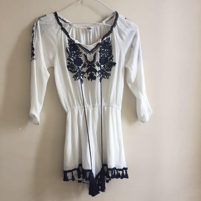White summer bodysuit