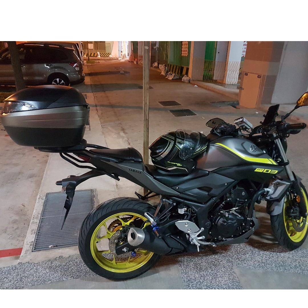 7afd1e53b5 YAMAHA MT-03 KAPPA K53N + KAPPA RACK PACKAGE, Motorbikes, Motorbike  Accessories on Carousell