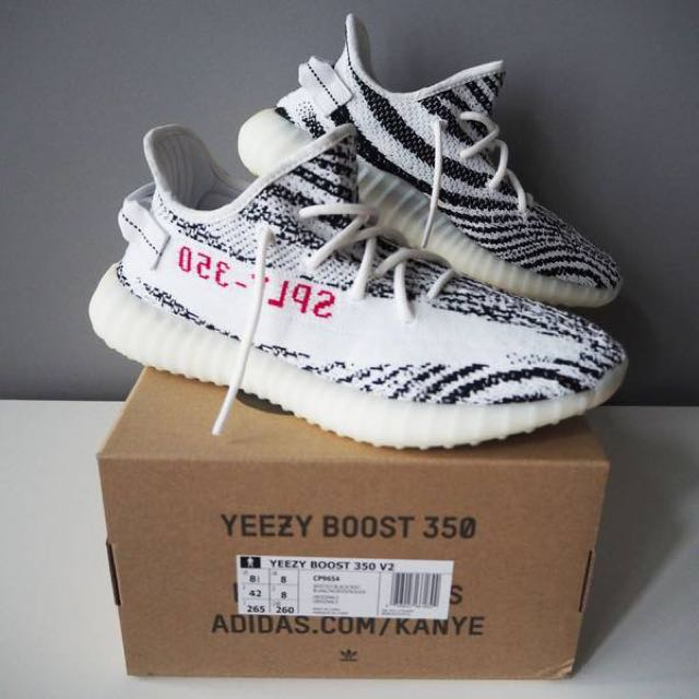 54e3c781fb97c ... discount yeezy boost 350 v2 zebra us8.5 mens fashion footwear on  carousell 4a69a c9dbd