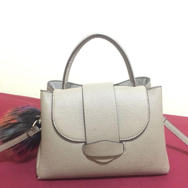 Zara Mini City Bag With Pompom