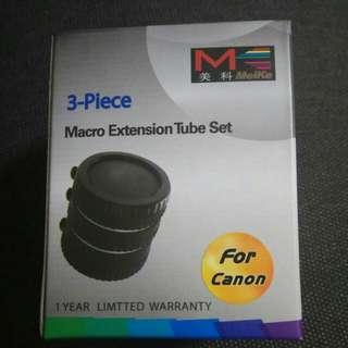 Bnib macro extension tube set auto af canon