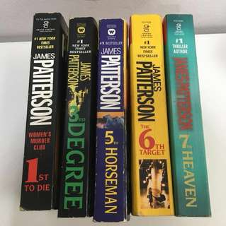 James Patterson - The Women's Murder Club series @ $3 each