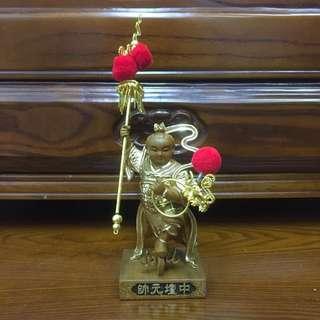 4寸锦雕,描金中坛元帅