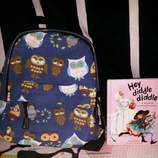 Backpack Kids Pattern Owl