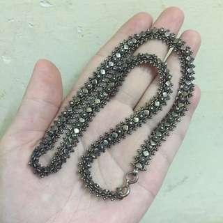 18寸 925 古董銀項鍊 不議價