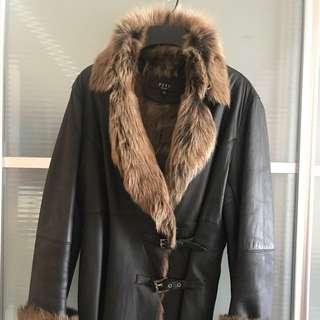 """🈹 意大利羊仔皮,真Fur ,超型,收身,超值👍穿着M碼女仕一定啱着👍膊16""""吋,胸20""""吋原價$143xxx"""