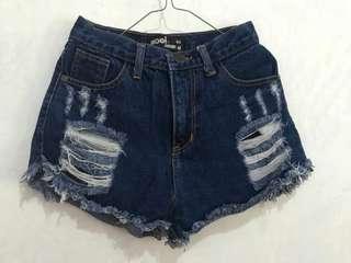 Short jeans high waist